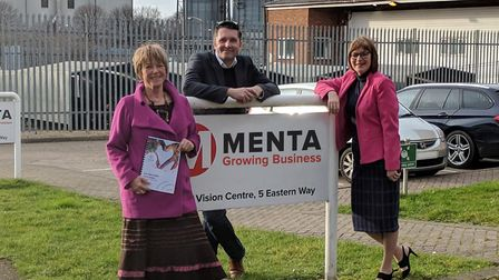 Judy Oliver of Clarity4D with Alex Till and Mel Overton of MENTA Picture: RACHAEL LAWRANCE