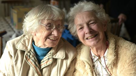 Jean Whincop and Diana Allan love meeting up for a chat and a coffee at The Weavers Tea Room Pictu