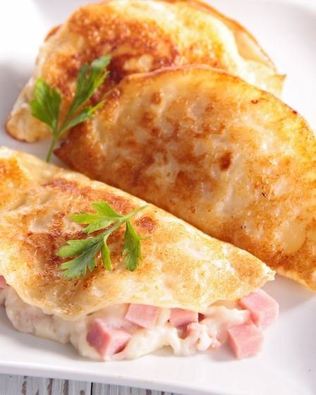 A savoury choice - crepes with ham and cheese. Picture: GETTY IMAGES/ISTOCKPHOTO
