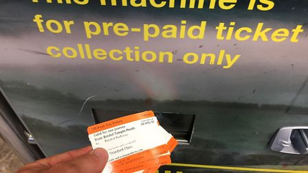 Ticket holders have had problems using machines at Greater Anglia stations on Tuesday. Picture: Ben