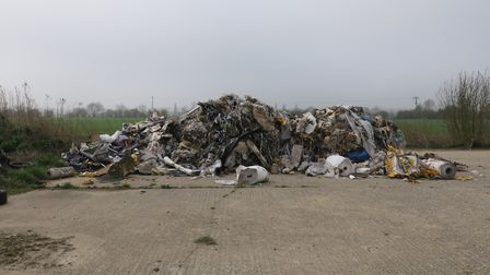 Nigel Roberts, of Sudbury, dumped over 28 tonnes of waste during the two incidents - this picture sh