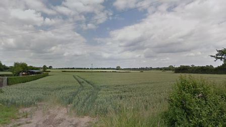 Land off Wetherden Road in Elsmwell, before development. Picture: GOOGLE MAPS