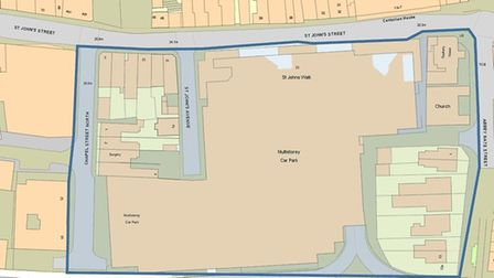 The dispersal order affects the pedestiranised shopping area of Lion Walk and St John's walk in Colc