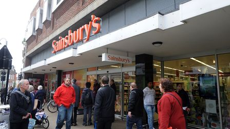 Sainsbury's in Ipswich town centre. Shoppers could face price rises if a proposed merger between Sai
