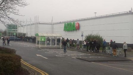 Shoppers at Asda in Ipswich. Shoppers could face price rises and there could be shop closures if a