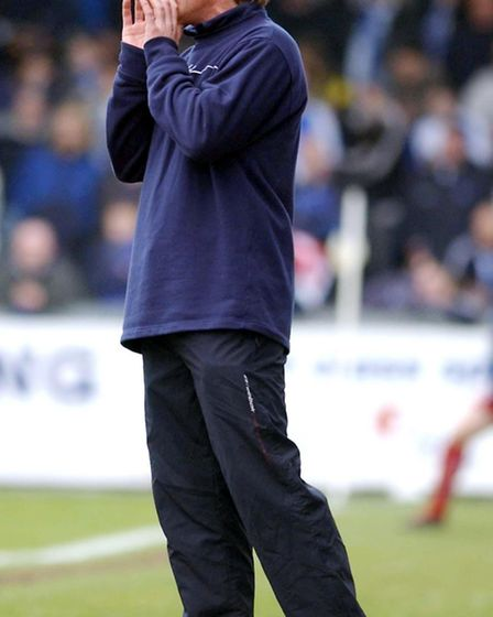 Russell Osman on the sidelines as Bristol Rovers boss. Picture: PA SPORT