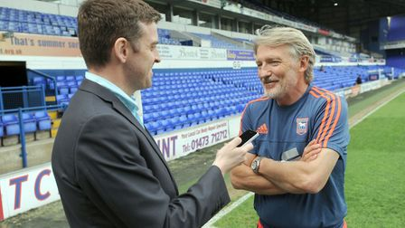 Russell Osman talks to former EADT and Star sports reporter Chris Brammer. Picture: ARCHANT