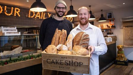 David Wright and Ian Akers, The Cake Shop Bakery Picture: RAE SHIRLEY