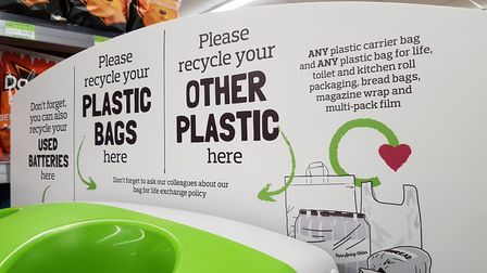 Recycling stations can be found at some of the East of England Co-op's main Ipswich stores. Pictur