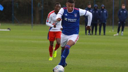 Corrie Ndaba has signed his first pro deal at Ipswich Town. Picture: ROSS HALLS