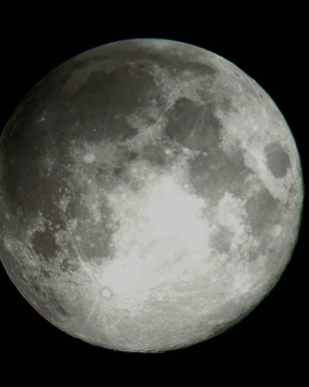 Bex Sheppard captured this picture using her telescope Picture: BEX SHEPPARD
