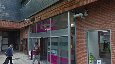 A 58-year-old man was assaulted outside Colchester Library in the town centre Picture: GOOGLE MAPS