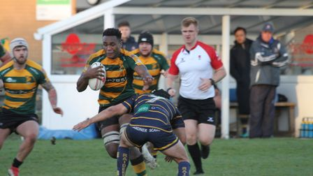 Tui Uru, seen here in action for Bury St Edmunds, has signed for the Northampton Saints. Picture: SH