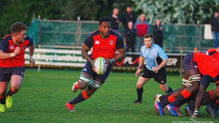Tui Uru in action for England Counties under 20s against Nottingham Academy. Picture: www.itmrepubli