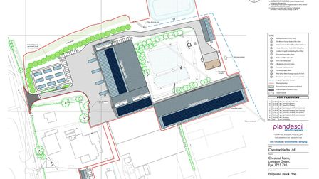 The proposed block plan for the development, as submitted by Camstar Herbs Picture: CAMSTAR HERBS LT