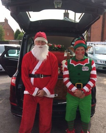 Christmas was the theme for Walter Hatton's funeral in Colchester Picture: CO-OP FUNERALCARE