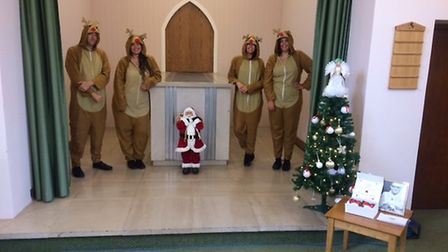 Co-op Funeralcare staff wore Christmas onesies for Walter Hatton's funeral Picture: NADINE BOWLER