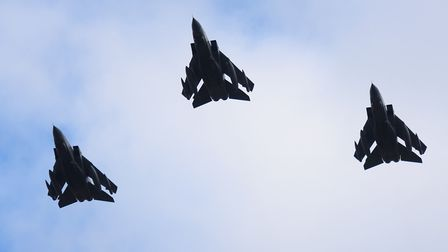 The farewell flypast of the Tornado aircraft over RAF Honington. Picture: DENISE BRADLEY