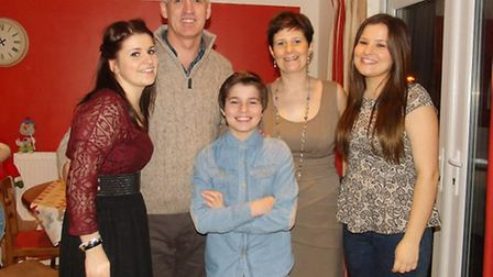 Arran Tosh with parents Stephen and Alison and his sisters Chloe and Abbie. PICTURE: SUBMITTED BY FA