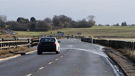 Motorists were urged to avoid The Strood this morning following a crash which left two people injur