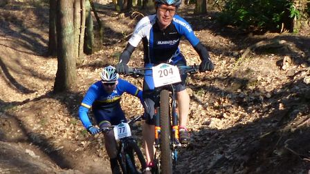 Stowmarket rider Laura Sampson – fastest overall among the women at Shouldham Warren. Picture: FERG
