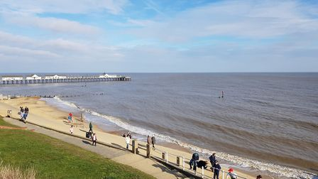 Spring day, in February, at Southwold. Great weather for the school half term holiday. Picture: CHL