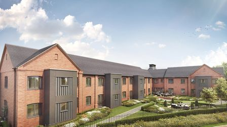 Tyefield Place apartments, cgi, rear view by McCarthy & Stone in Hadleigh, Suffolk