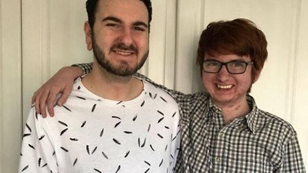 Benie Davies, left, wrote the song for younger brother Dom, right, who recently had a heart transpla