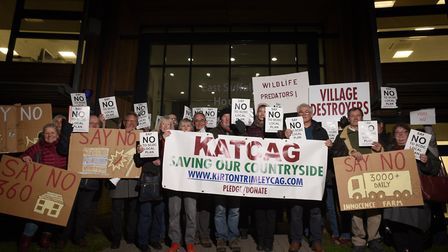 Protestors from KATCAG (Kirton and Trimley Community Action Group) have also objected to aspects of