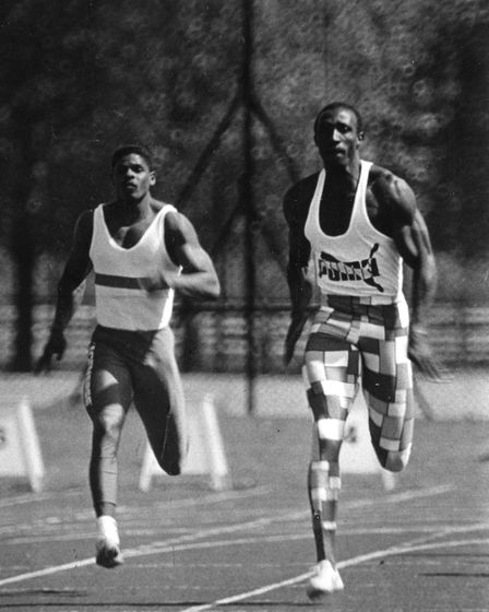 Corporal Lenny Paul from Ipswich, left, was also an athlete with the British athletics team. Pict