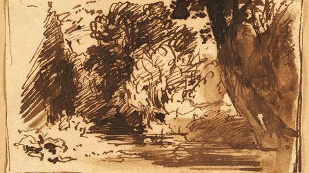 The John Constable drawing that sold for £75,000 - bought for just £3 more than 60 years ago. Pictur