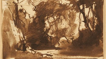 Tthe John Constable drawing that sold for �40,000 at auction Picture: Chiswick Auctions