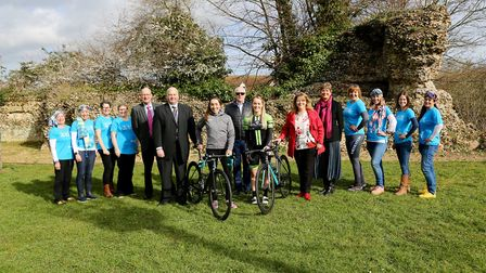 Organisers and community leaders celebrate the announcement of details of the 2019 Women's Tour Pict