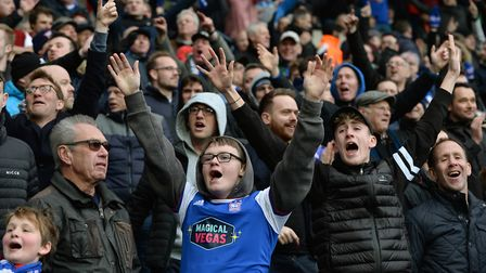 Town fans celebrate at The Hawthorns after Ipswich equalised Picture Pagepix