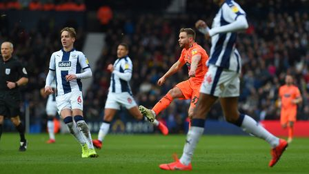 Alan Judge's second half volley goes just over the bar at West Brom Picture Pagepix