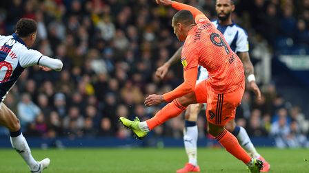 Kayden Jackson shoots quickly on the turn to produce a save from West Brom keeper Sam Johnstone Pict