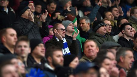 Town fans at The Hawthorns Picture Pagepix