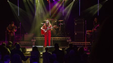 Gabby playing at the packed-out final at The Apex in Bury St Edmunds Picture: JAN ROBERTS PHOTOGRAPH