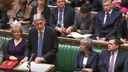 Chancellor of the Exchequer Philip Hammond delivers his Spring Statement to the House of Commons. Pi