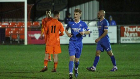 Teenager Harrison Bacon scored the late winner for Leiston against Ipswich Town Under 18s. Picture: