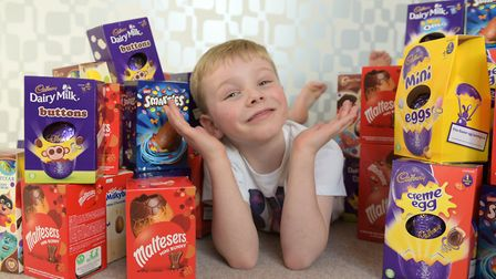 This is Spencer's fourth year of collecting eggs for the hospital Picture: SARAH LUCY BROWN