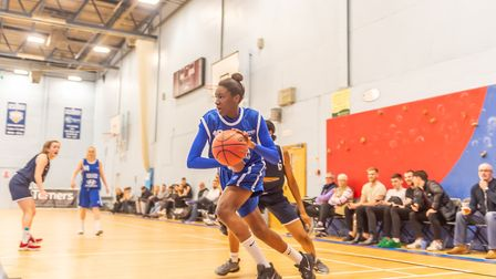 Susanna Rafiu drives into the key for an easy lay-up against Southwark. Picture: PAVEL KRICKA