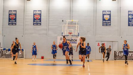 Becky Harwood-Bellis leads the fast break after forcing a Southwark turn over. Picture: PAVEL KRICKA