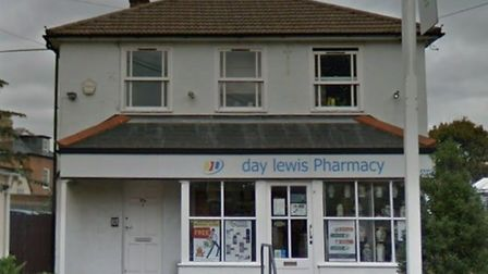 Essex Police were called to the scene at Priory Pharmacy to reports that two men armed with a knife