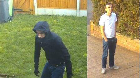 Police have released images of four men they wish to speak to in connction to two burglaries in With