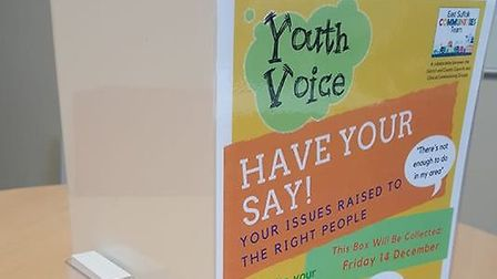 One of the Youth Voice boxes currently installed at a number of local schools Picture: CHLOE WINLOW