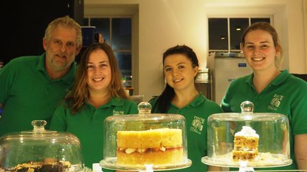 The team at Dice And A Slice, the Colchester board game cafe. Owners Daren Hutton and Jessica Caws,