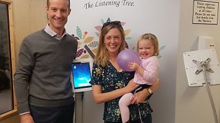Couple Stephen Rooney and Felicity Simper with their daughter Chloe Rooney Picture: MY WISH CHARITY