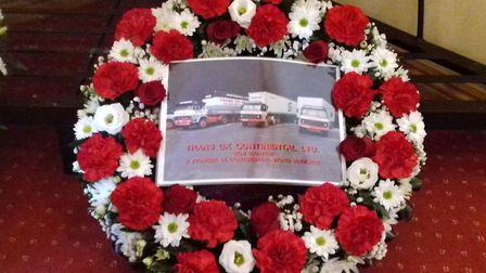 A floral tribute to Bob Carter Picture: COURTESY SIMON WASPE