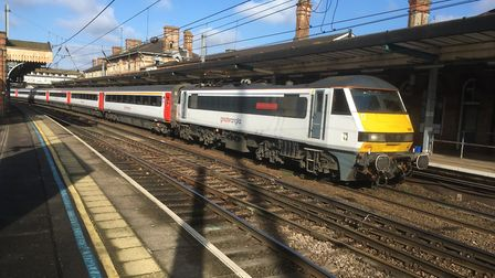 Existing Intercity trains will be used for the first high-speed journeys to London, Stock Image
